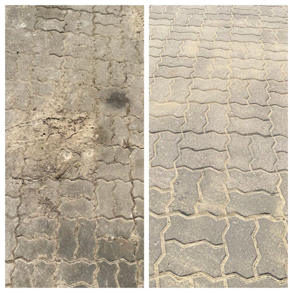 tänavakivide puhastus